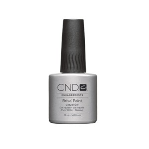 cnd brisa paint - pure white - opaque - 12ml