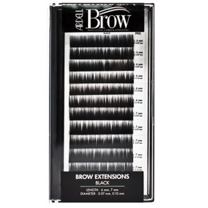black - eyebrow extensions