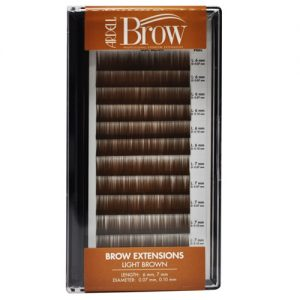 light brown - eyebrow extensions