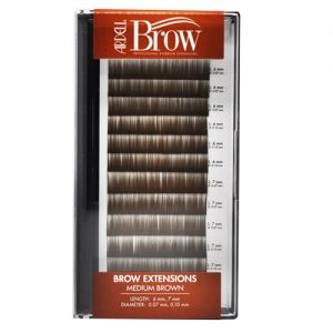 medium brown - eyebrow extensions