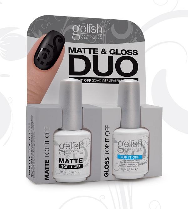 Harmony Gelish Matte Amp Gloss Duo Matte Top It Off