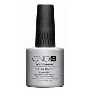 cnd brisa paint - soft white - opaque - 12ml