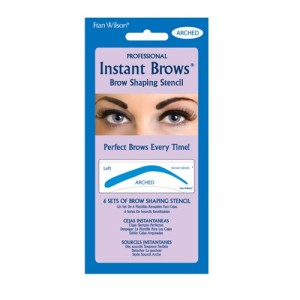 arched instant brows stencil