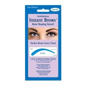 round instant brows stencil