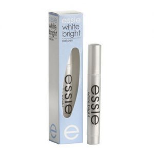 white bright nail pen