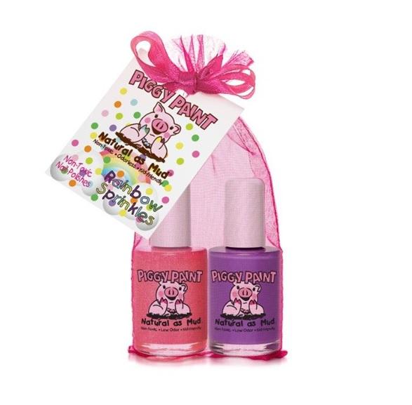 Piggy Paint – Rainbow Sprinkles Gift Set – 2 Nail Polish Set – 0 5oz/15ml  each