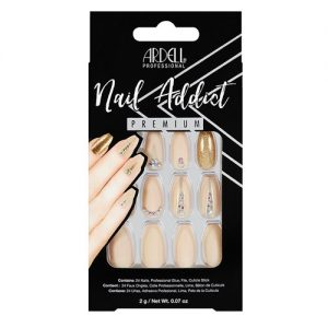 nail addict - nude jeweled