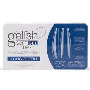 Gelish soft gel tips long coffin