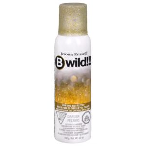 b wild gold and silver body hair glitter