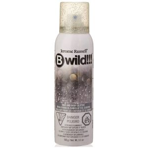 b wild silver body hair glitter
